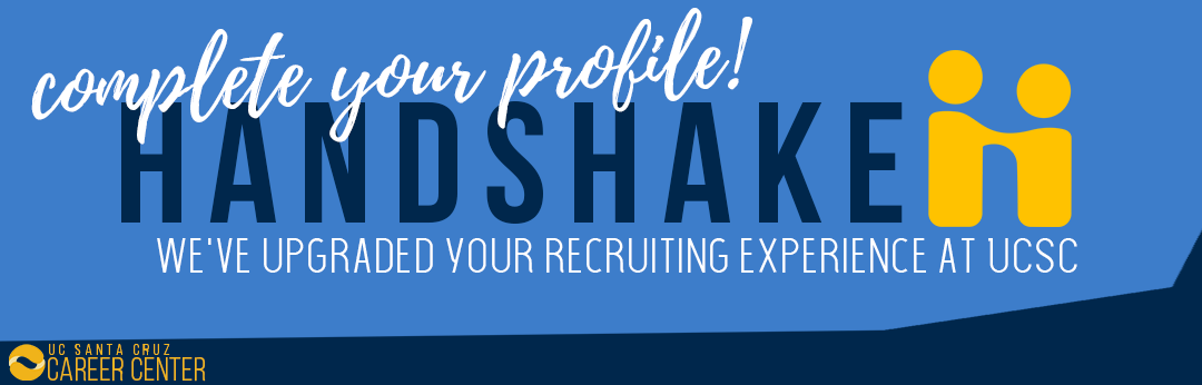Complete your Handshake profile!