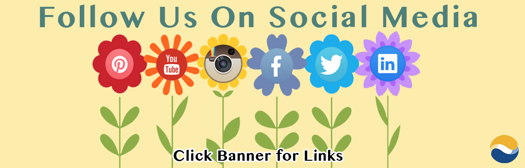Follow Us On Social Media Banner