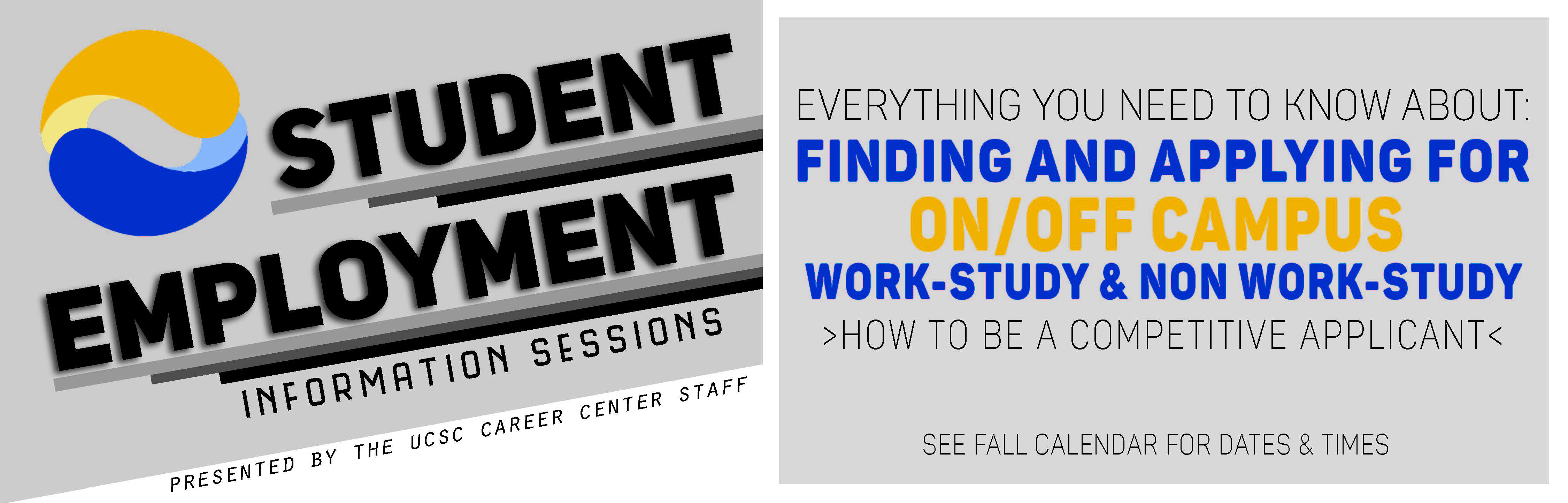 Student Employment Information Sessions