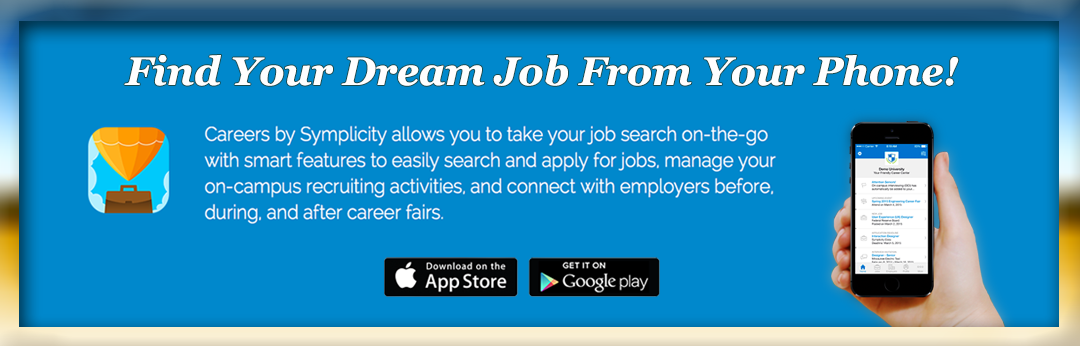 Careers by Symplicity Cellphone Application