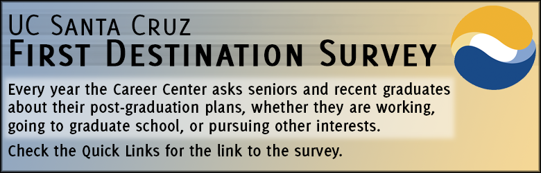 Take our first destination survey to share your post-graduation plans!